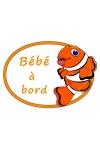 Autocollant bébé à bord poisson