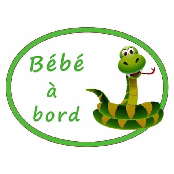 Signalétique bébé à bord petit serpent