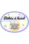 Sticker bébé à bord fille & garçon debout
