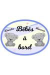 Sticker bébé à bord jumeaux garçons