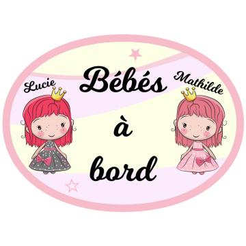 Sticker de voitures : vive les filles !