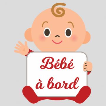Sticker bébé à bord faites signe à bébé !