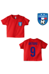 Tee-shirt foot France rouge