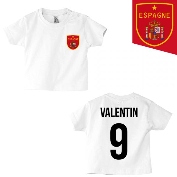 Tee-shirt foot Espagne blanc