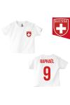 t-shirt bébé équipe Suisse blanc