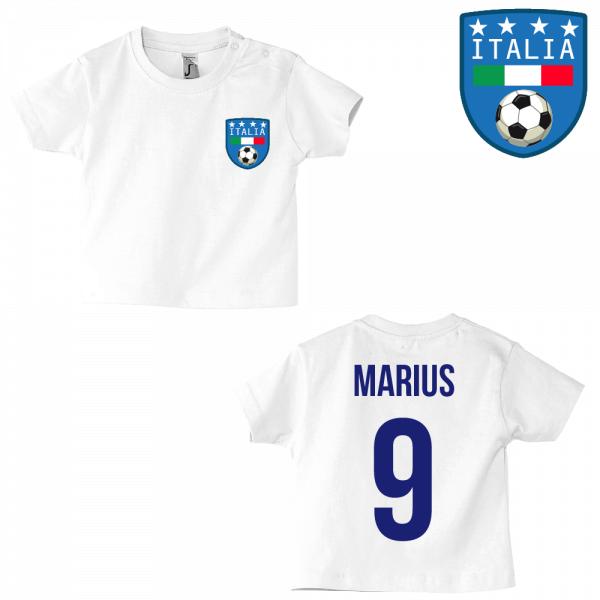 T-shirt original logo Italie blanc