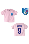 T-shirt original logo Italie rose