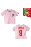 t-shirt enfant Portugal rose