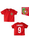 t-shirt enfant Portugal rouge