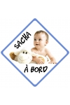 Pancarte bébé à bord 100% personnalisable prénom et photo