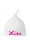 bonnet de naissance personnalisé pour fille