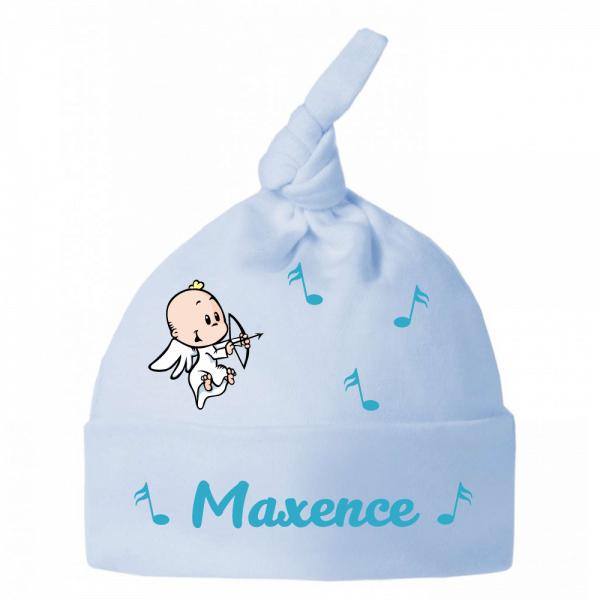Bonnet bébé petit ange et note de musique