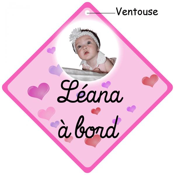bébé à bord coeur à personnalisé photo