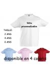 Tee-shirt enfant à personnaliser 2ans 4ans et 6 ans