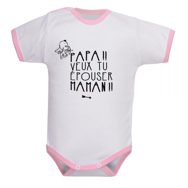 Body humoristique pour bébé demande de mariage