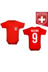 Body manche courte à personnaliser foot Suisse