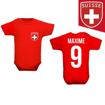 Body pour bébé équipe de football Suisse