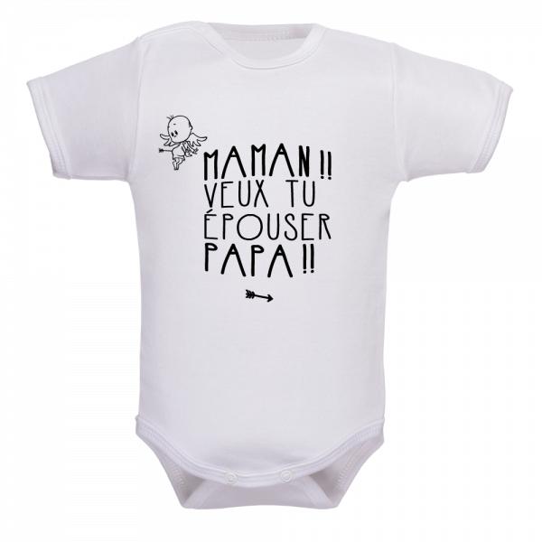Vêtement de naissance original, bébé devient cupidon d'un jour