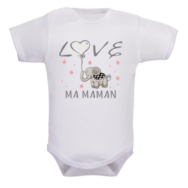 body bébé love maman
