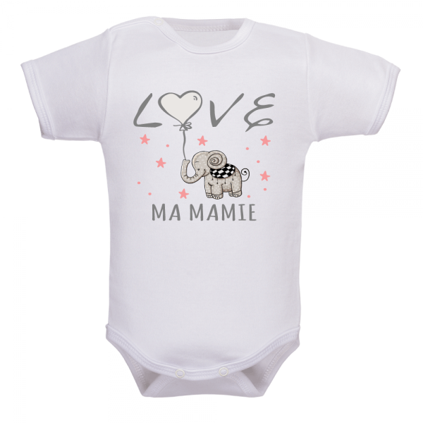 body bébé fille love mamie