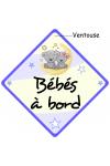 Bébé à bord prénom Babychou bleu