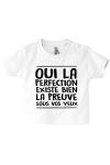 Un t-shirt pour bébé, l'humour n'a pas dit son dernier mot !