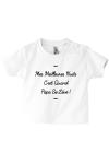 Tee-shirt enfant en forme de clin d'œil aux nuits agitées de papa !
