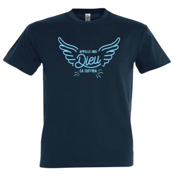 T-shirt homme, quand papa se prend pour une divinité !