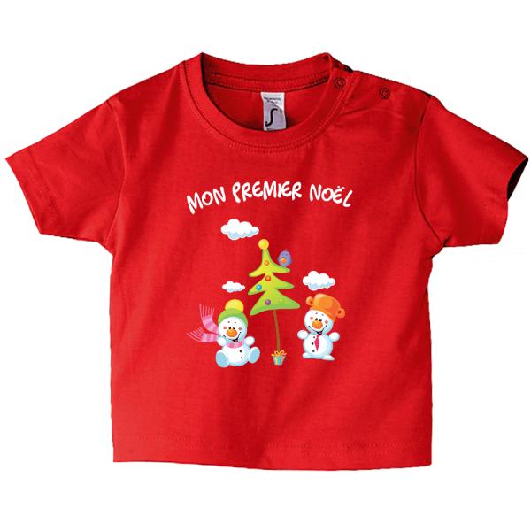 Tee-shirt enfant, des bonhommes de neige pour noël