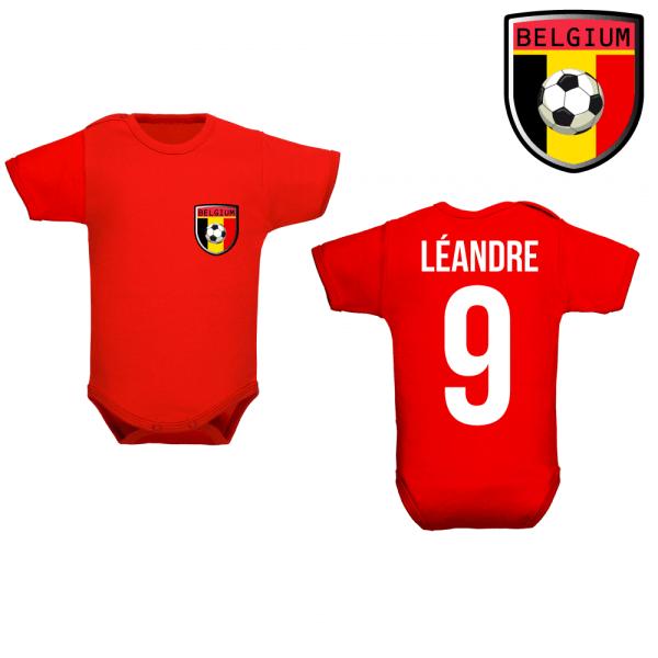 Body football belgique avec le prénom de bébé