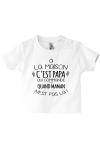T-shirt pour bébé à la maison c'est maman le chef