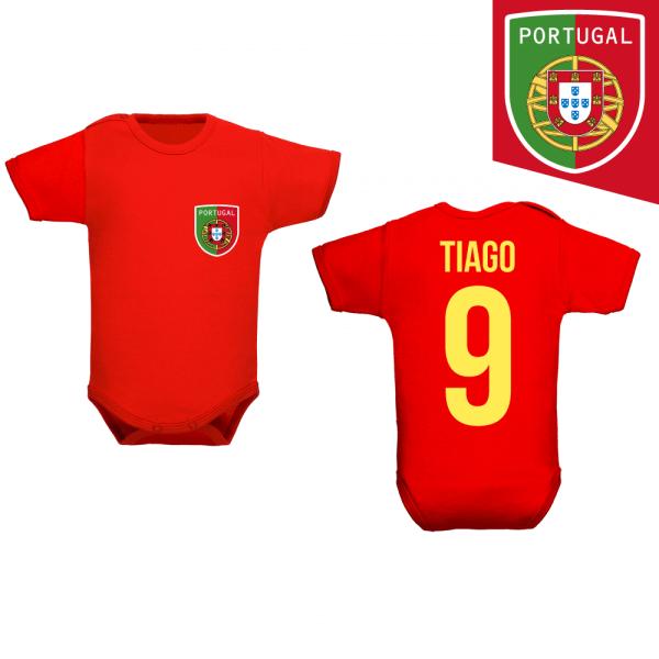 c39ab2d58dc06 Body bébé foot portugal à personnaliser avec le prénom