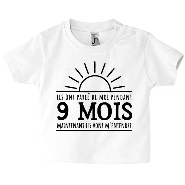 L'humour est au rendez-vous sur le tee-shirt de bébé !