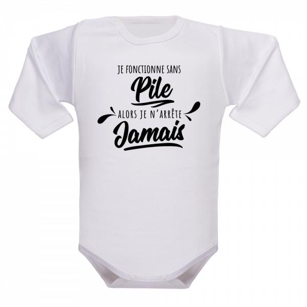 Un vêtement de naissance pour les enfants branchés sur piles !