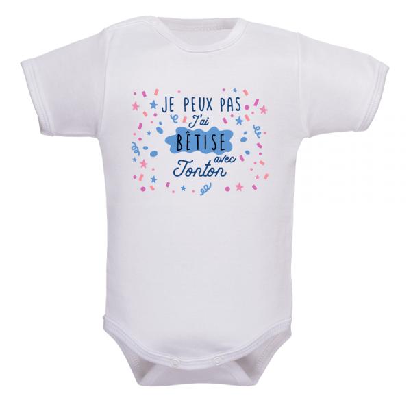 Body bébé je peux pas j'ai bêtise avec tonton : optez pour l'humour !