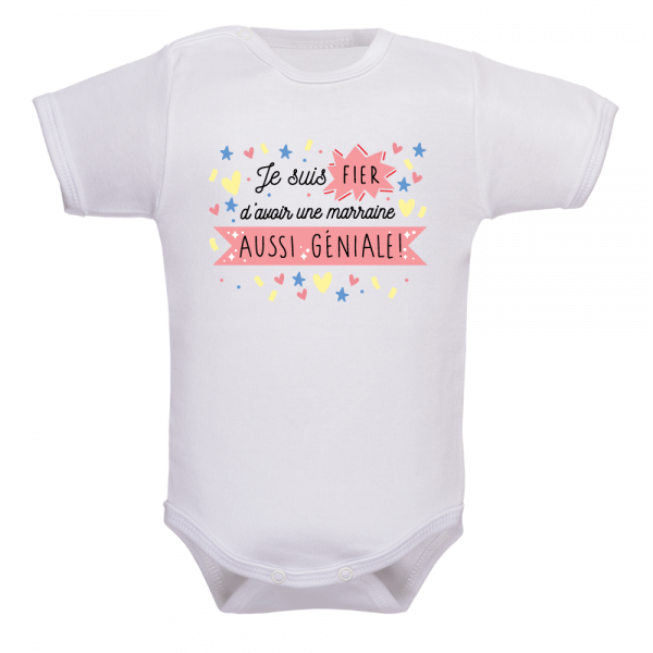 Body bébé marraine génial, le plus tendre des habits bébé !