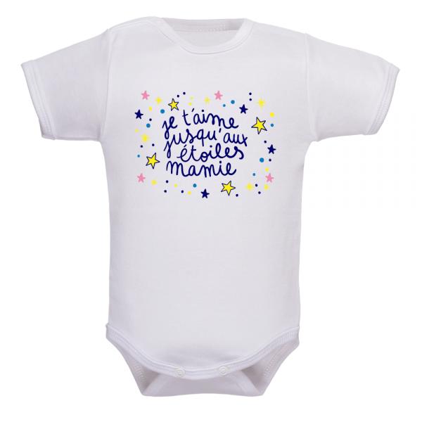 Body je t'aime mamie : un vêtement bébé rempli d'amour