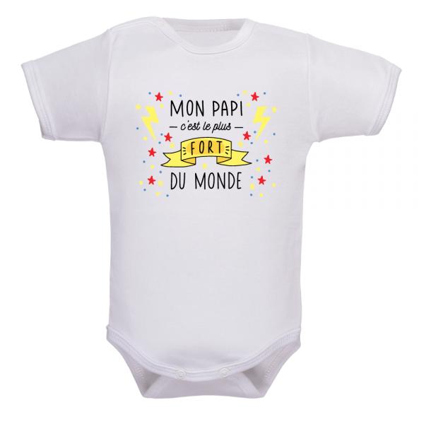 Body bébé papy le plus fort du monde