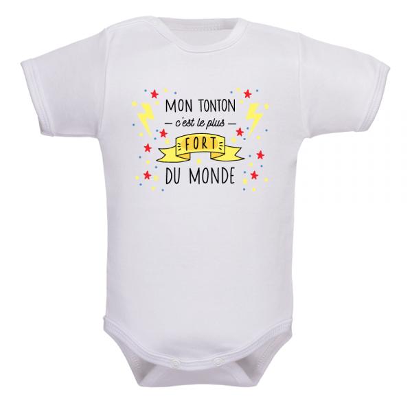 Body bébé tonton plus fort, une déclaration musclée !