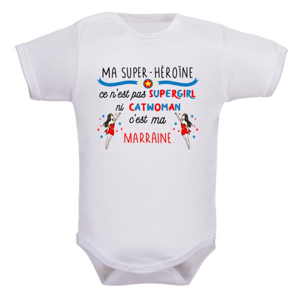 Body bébé marraine super héros pour le confort de bébé !