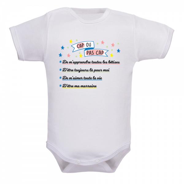 Body bébé demande marraine, une demande inoubliable !