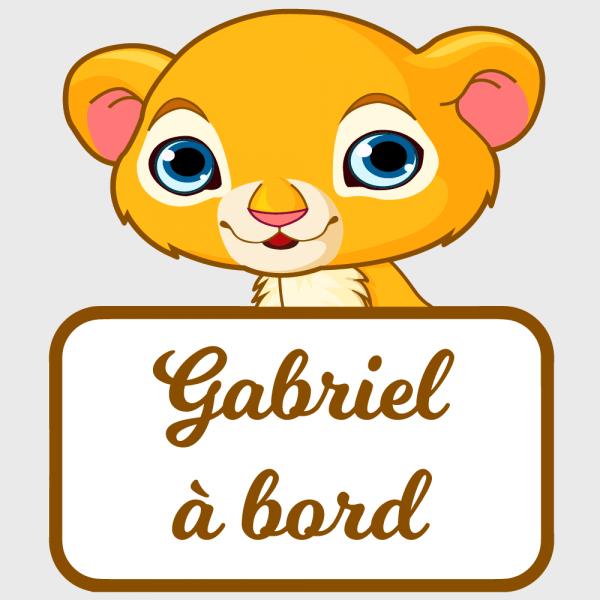 Un sticker bébé à bord lion diablement protecteur !
