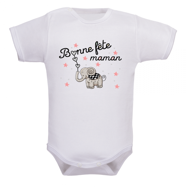 body bébé plein de coeurs pour la fête des mères
