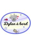 Sticker autocollant bébé à bord ours