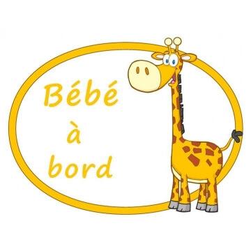 Une girafe sur la lunette arrière et la prévention est assurée !