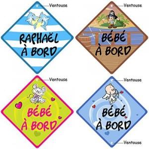pancarte bébé bord originale