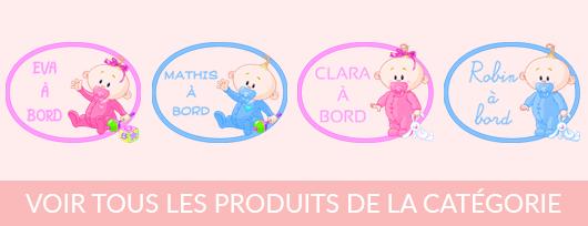 Sticker bébé à bord à personnaliser